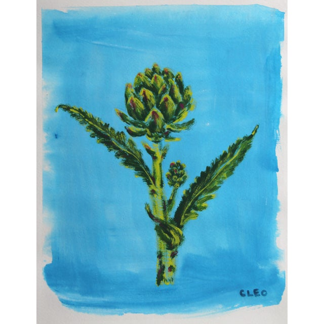 2020s Chinoserie Botanic Tropical Leaves Painting by Cleo Plowden For Sale - Image 5 of 11