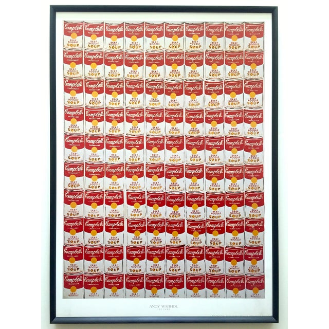 """Andy Warhol Rare Vintage 1978 Iconic Lithograph Print Framed Collector's Pop Art Poster """" 100 Cans """" 1962 For Sale - Image 13 of 13"""
