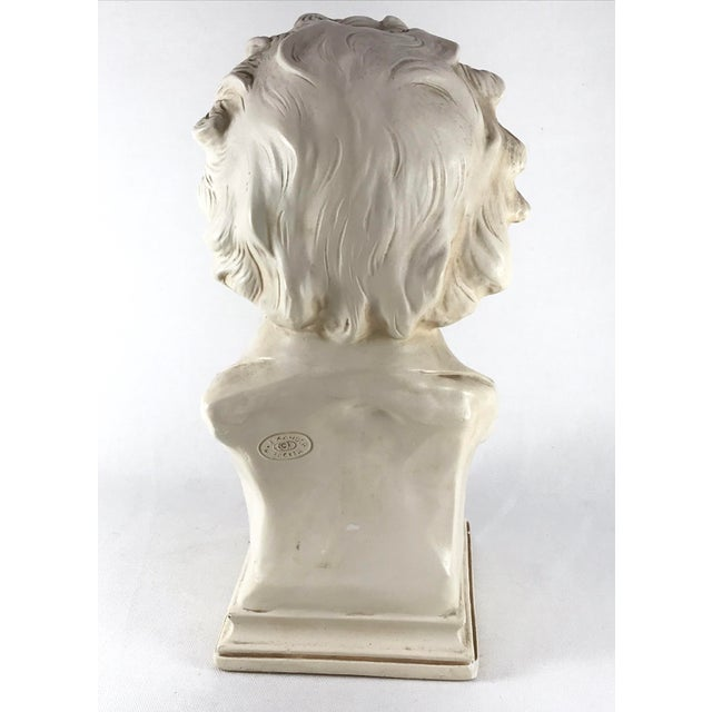 20th Century Contemporary Alexander Backer Co Ivory Colored Beethoven Bust For Sale In Los Angeles - Image 6 of 11