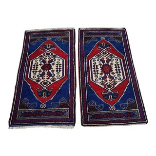 1970s Oushak Traditional Oriental Handmade Wool Rugs - A Pair For Sale