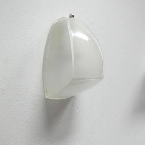 Mid-Century Modern Pair of Italian Holophane Glass Wall Lights by Vico Magistretti For Sale - Image 3 of 10