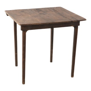 Antique Industrial Primitive Folding Work Card Table For Sale
