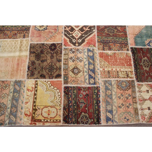 Contemporary Anatolian Patchwork Rug - 9′4″ × 11′10″ For Sale - Image 3 of 6