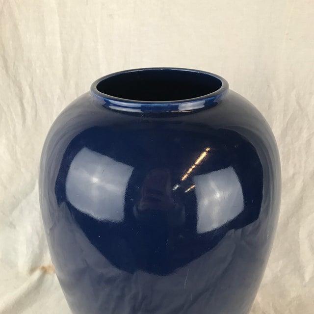 Blue Glazed Pottery Vase For Sale - Image 9 of 13