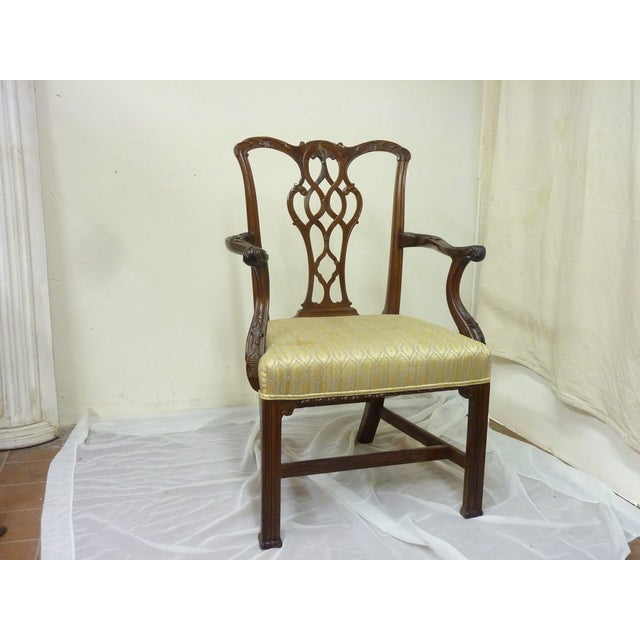 18th Century English Chippendale Armchair For Sale In Portland, ME - Image 6 of 6