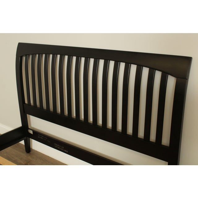 Black Ethan Allen American Impressions Queen Size Black Sleigh Bed For Sale - Image 8 of 13