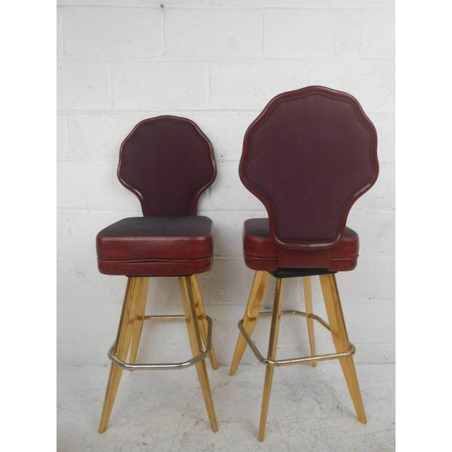 Six Vintage Casino Swivel Stools - Image 2 of 9