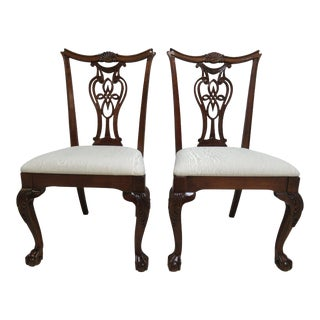 Modern Pennsylvania House Ball Claw Chippendale Dining Room Side Chairs- A Pair For Sale