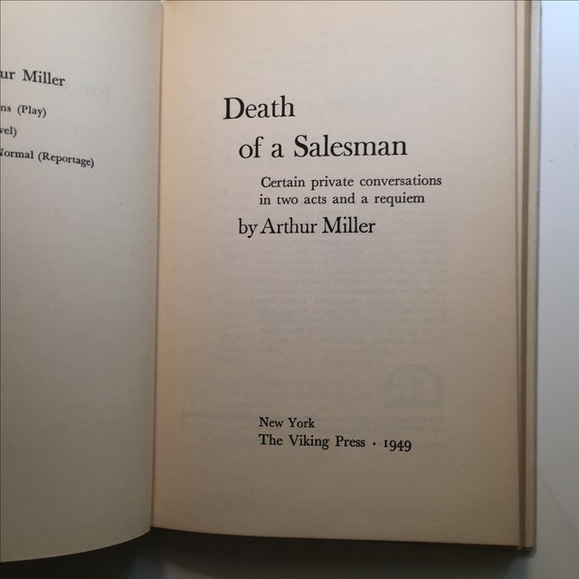 an analysis of willys character in death of a salesman by arthur miller Death of a salesman study guide contains a biography of arthur miller, literature essays, quiz questions, major themes, characters, and a full summary and analysis about death of a salesman death of a salesman summary.