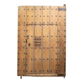 Antique 18th C. Spanish Porch Door With Interior Door Circa.1700s For Sale