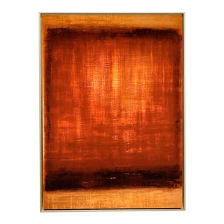 Medium Color Field Untitled Burnt Sienna #2, Fine Art Giclée Print on Archival Paper, Framed For Sale