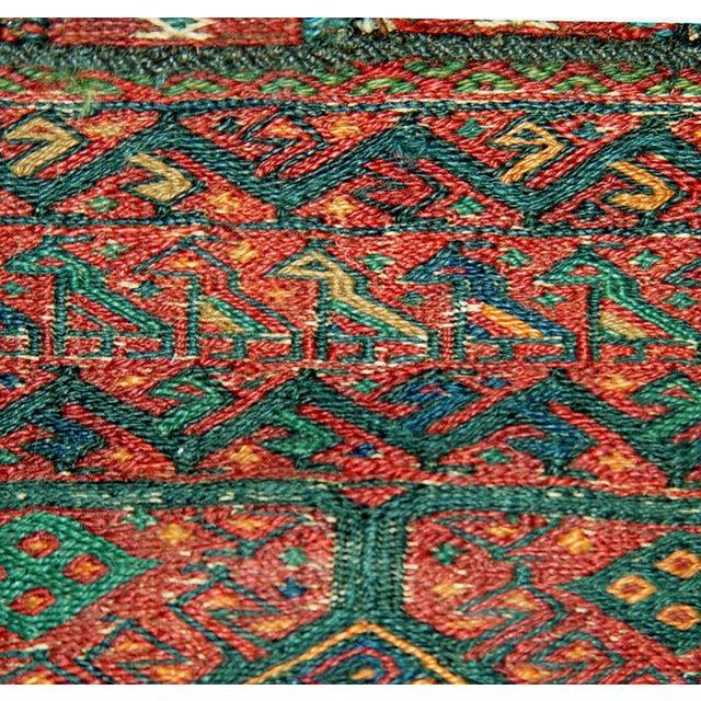 Old Persian Bakhtiari Soumak Khorjin Saddle Bag - Image 10 of 10