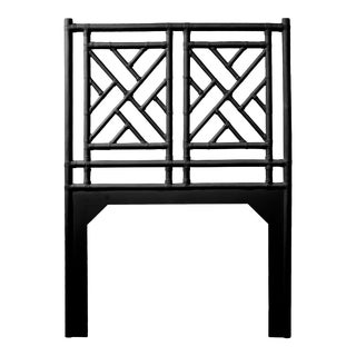 Chippendale Headboard Twin - Black For Sale