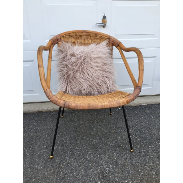 Calif-Asia Bamboo and Wicker Arm Chair For Sale In Philadelphia - Image 6 of 12