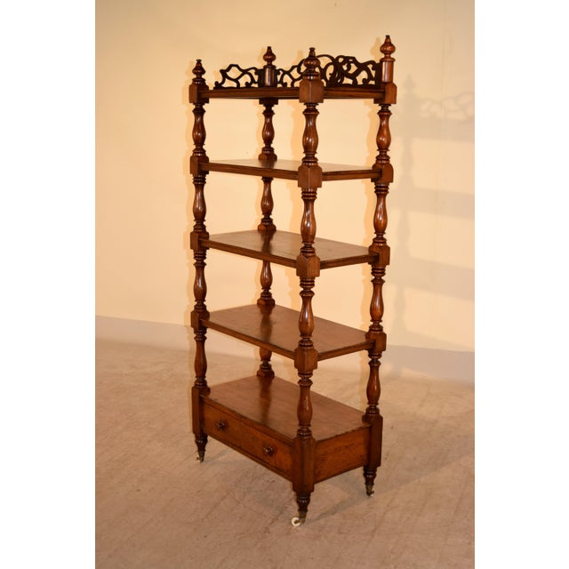 Victorian 19th C English Mahogany Etagere For Sale - Image 3 of 8