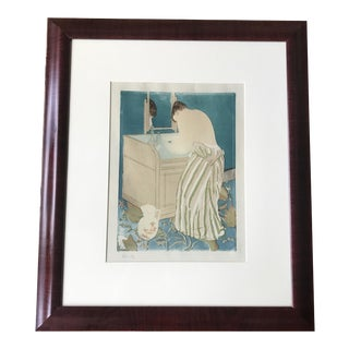 "Late 19th Century Antique Mary Cassatt ""Woman Bathing (La Toilette)"" Framed Print For Sale"