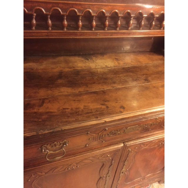 19th Century Hand Carved Walnut French Vaisselier For Sale - Image 9 of 13