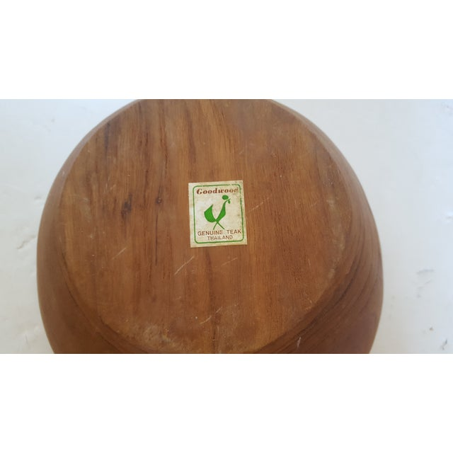 Thailand Teak Bowl With Servers - Image 4 of 4