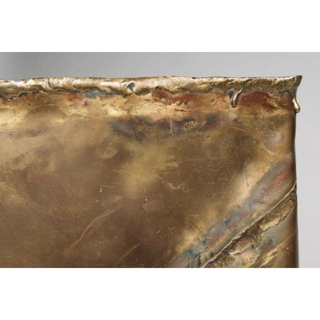 Bronze Silas Seandel Brutalist Patchwork Column Pedestal For Sale - Image 7 of 8