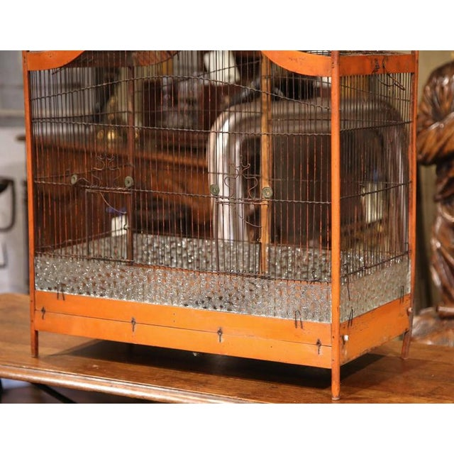 19th Century French Hand-Painted Carved & Wired Birdcage - Image 6 of 8