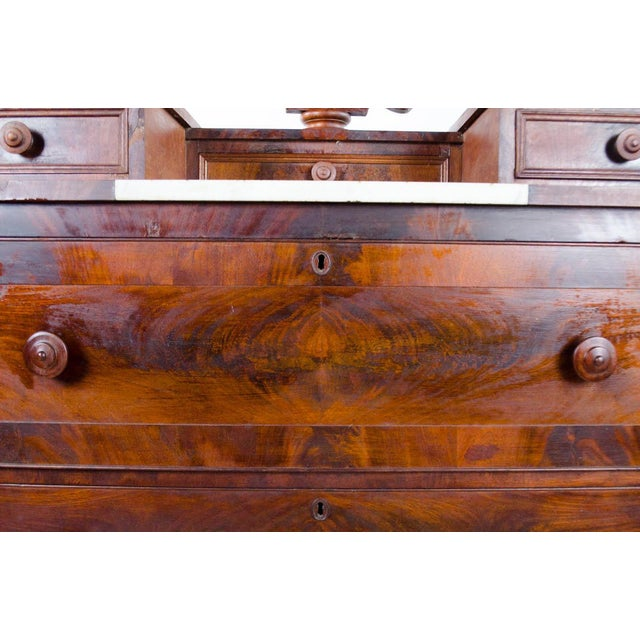 White 19th Century Victorian Drop Well Marble Top Dresser For Sale - Image 8 of 13