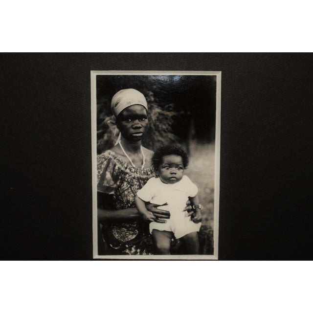 Vintage African Mother & Child Sepia Photograph - Image 3 of 3