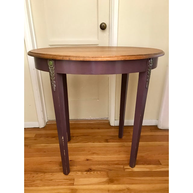 1960s Boho Chic Wooden Oval Accent Table For Sale - Image 12 of 13