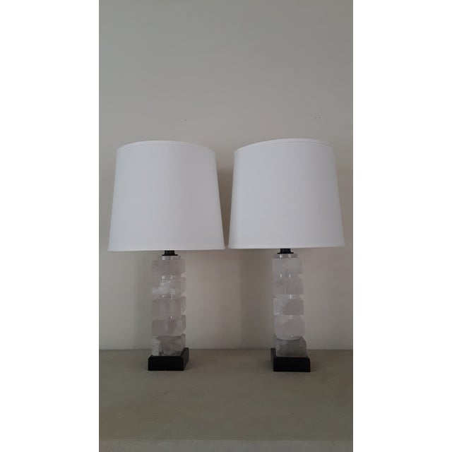 Rock crystal table lamps a pair chairish rock crystal table lamps a pair image 2 of 5 mozeypictures Images