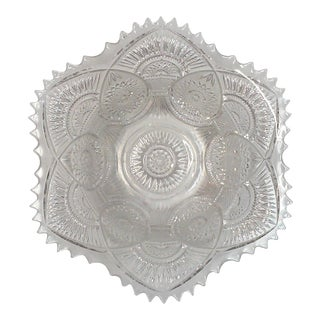 American Brilliant Pressed Glass Serving Bowl
