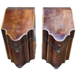 18th Century George III Knife Boxes, a Pair For Sale