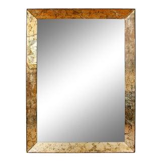 Deco Églomisé Mirror, circa 1940 For Sale