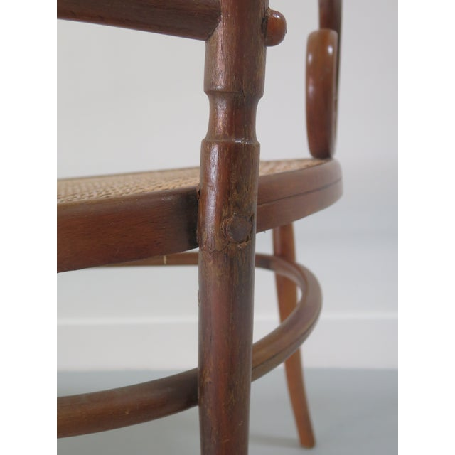 Early 20th Century Thonet Style Bentwood and Caned Settee For Sale - Image 9 of 13