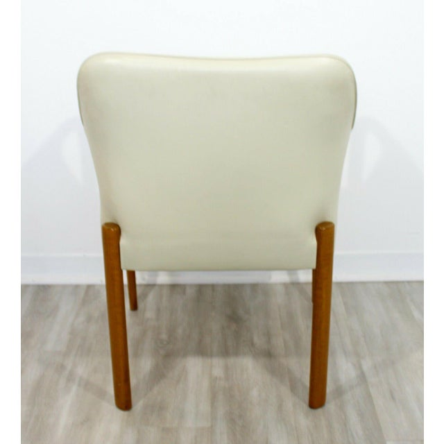 1950s Contemporary Modern Set 8 Giorgetti Progetti Italian Wood Dining Armchairs 1990s For Sale - Image 5 of 7