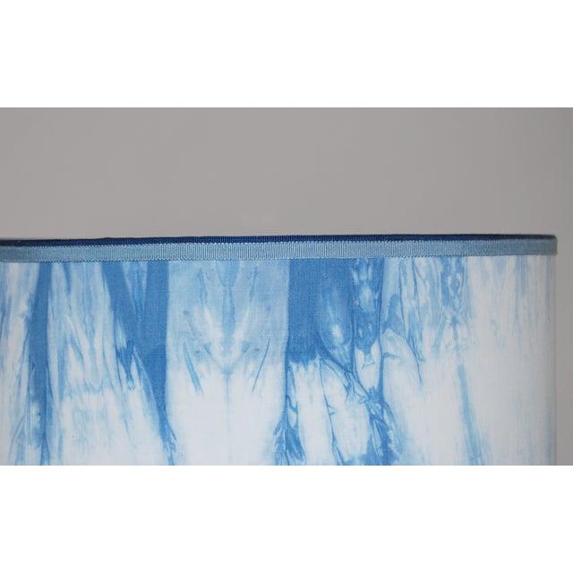 Hand Dyed Shibori Lampshade - Image 3 of 4