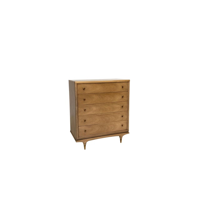 """Mid Century Modern Kent Coffey """"The Continental"""" Highboy Dresser For Sale - Image 9 of 9"""