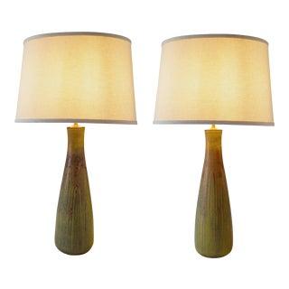 Gerd Bøgelund for Royal Copenhagen, Solfatara Glazed Stoneware Vases- A Pair For Sale