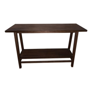 Reclaimed Wood Console Table With Shelf For Sale