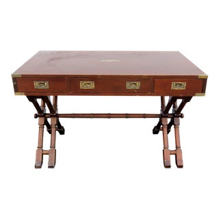 Campaign Style Writing Desk For Sale