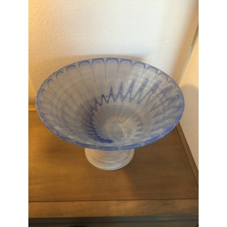 Art Deco Frosted Art Glass Pedestal Bowl Preview