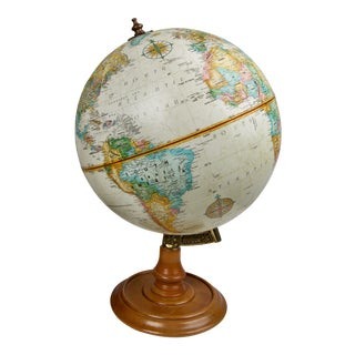 Vintage Art Deco Replogle World Classic Series Globe For Sale