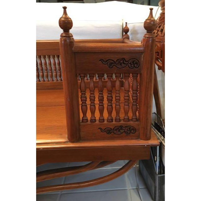 Asian 20th Century Asian Thai Howdah Hand Carved Teak Daybed For Sale - Image 3 of 10