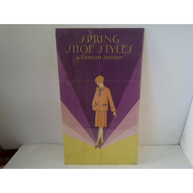 "Vintage Endicott-Johnson Advertising Poster Circa 1920. ""Spring Shoe Styles"" by Endicott-Johnson. American Lithograph Co.,..."