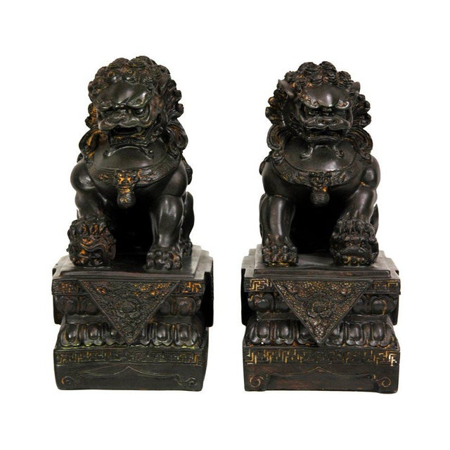 Chinese Foo Dog Statues - A Pair - Image 1 of 4