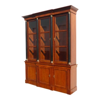 Vintage Baker Furniture Federal Style Solid Wood China Hutch Cabinet For Sale