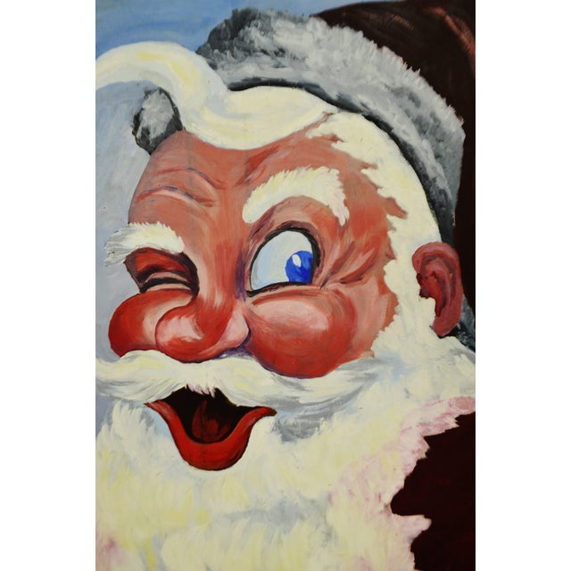 1953 Vintage Signed Santa Claus Painting - Image 10 of 10