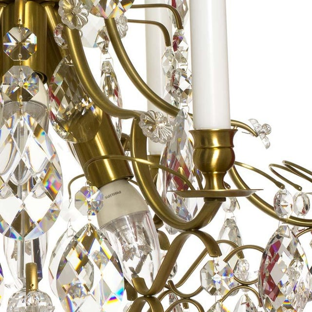 Baroque Six-Light Chandelier For Sale - Image 4 of 11