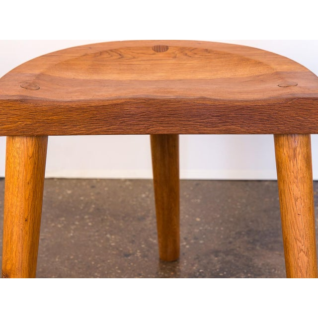 Jean Touret Oak Stool for Marolles For Sale In New York - Image 6 of 10