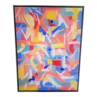 """Christine Frisbee """"Run"""" Contemporary Abstract Painting For Sale"""