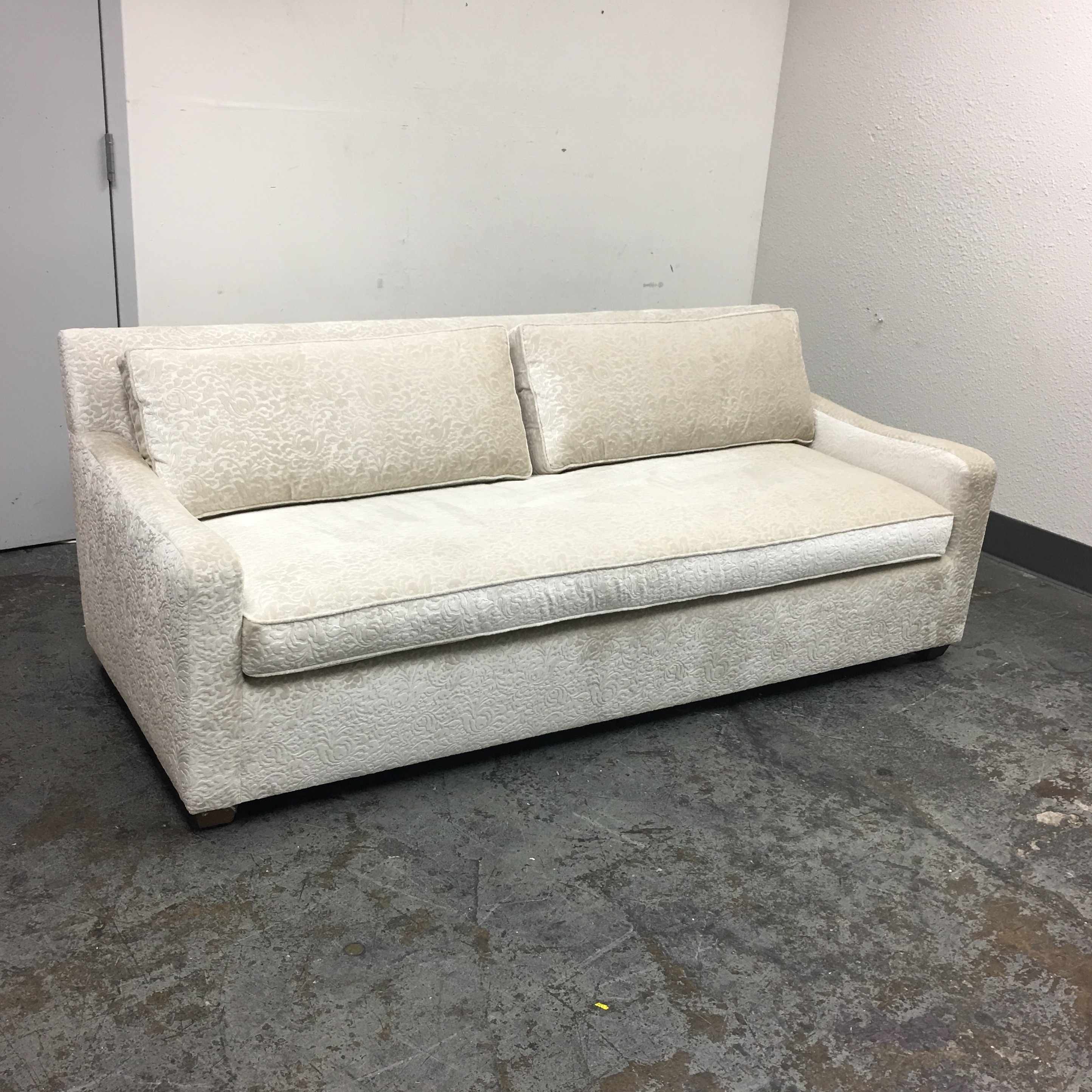Fitzgerald Of San Francisco Off White Velvet Sofa   Image 8 Of 11