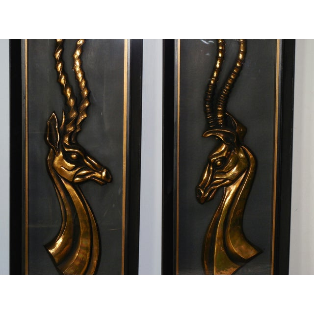 Hollywood Regency Gazelle Shadow Boxes - A Pair - Image 5 of 8